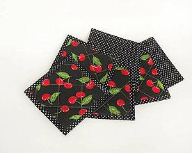 Úžitkový textil - Podšálky čerešne - 9561178_