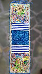 Šály - Pod hladinou- hodvábny maľovaný šál - 9563025_