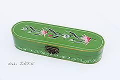 Krabičky - Ručne maľované puzdro so snežienkami - 9562408_