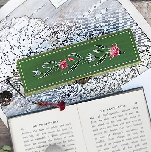 Ručne maľované puzdro so snežienkami