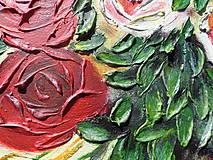 Obrazy - Ruže biele a červené - 9562784_