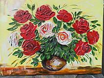 Obrazy - Ruže biele a červené - 9562786_