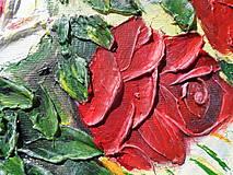 Obrazy - Ruže biele a červené - 9562790_