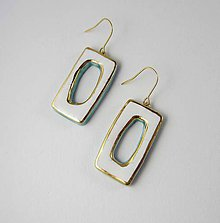 Náušnice - Tana šperky - keramika/zlato - 9563123_
