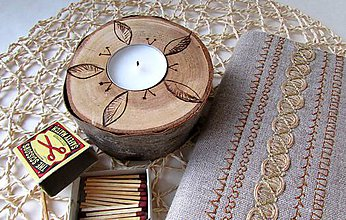 Svietidlá a sviečky - Svietnik čerešienka čerešňa - 9563723_