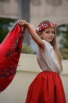 Ozdoby do vlasov - Dievčenský venček - 9561737_