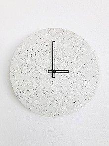 Hodiny - Betónové hodiny - PURE 30 white verzia (2) - 9561625_