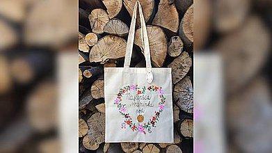 Nákupné tašky - ♥ Plátená, ručne maľovaná taška ♥ (MI23) - 9563665_