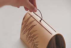 Papiernictvo - Kožený zápisník A6 BOTANIC (reálna papraď) - 9563484_