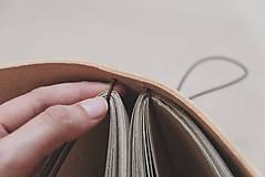 Papiernictvo - Kožený zápisník A6 BOTANIC (reálna papraď) - 9563486_