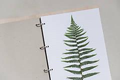 Papiernictvo - Kožený karisblok A4 BOTANIC (reálna papraď) - 9563492_
