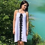 Šaty - Letné šaty s 3D kvetmi - 9561144_