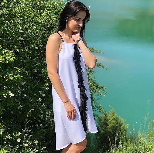 1206b2f14a43 Letné šaty s 3D kvetmi   Mellien.design - SAShE.sk - Handmade Šaty