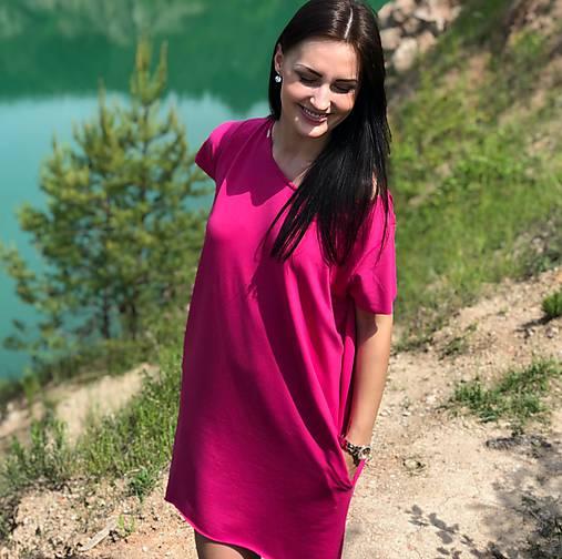 ee91d8c96fb7 Teplákové oversize asymetrické šaty s vreckami   Mellien.design ...