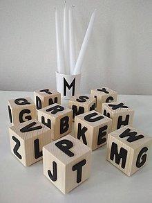 Hračky - Pohyblivá montesorri abeceda na kockách - 9561181_