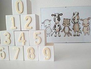 Hračky - Drevené kocky - čísla - 9561338_