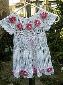 Detské oblečenie - Biele šaty s kvietkami - 9562217_
