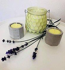 Svietidlá a sviečky - Citronelka v betóne - 9562870_