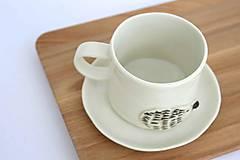 Nádoby - Porcelánová esspresso šálka Ježko - 9561005_
