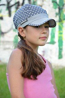 5b0db55b2 Detské čiapky - Letná šiltovka s menom Light Blue heart ♥ - 9560167_