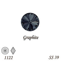 Korálky - SWAROVSKI® ELEMENTS 1122 Rivoli - Graphite, SS 39(8mm), bal.1ks - 9560433_