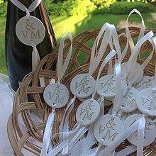 Darčeky pre svadobčanov - Medajlón na fľaše s iniciálami - zlatý - 9560218_