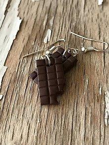 Náušnice - čokoládky - 9563553_