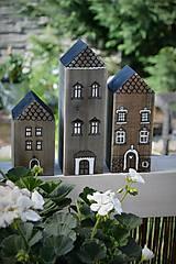 Dekorácie - Domčeky z malého mestečka I. - 9562961_