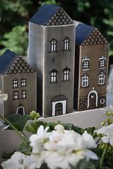 Dekorácie - Domčeky z malého mestečka I. - 9562962_
