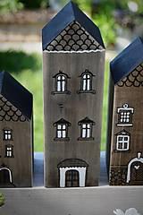Dekorácie - Domčeky z malého mestečka I. - 9562963_