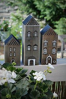 Dekorácie - Domčeky z malého mestečka - 9562961_