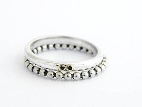 Prstene - 925/1000 sada strieborných prsteňov - 9566065_