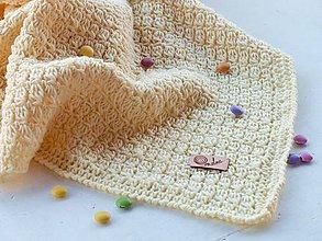 Textil - Detská deka MERINO: svetlá žltá - 9564282_