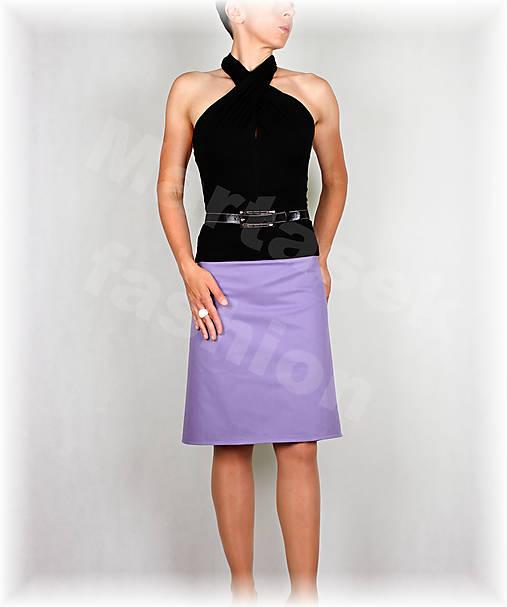 Sukně fialová riflovina vz.447