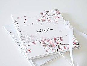 Papiernictvo - Malý svadobný album - rozkvitnutá čerešňa 20x20 - 9567439_