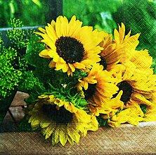Papier - S1216 - Servítky - kvet, slnečnice, slnko, leto, flowers, kytica - 9565952_