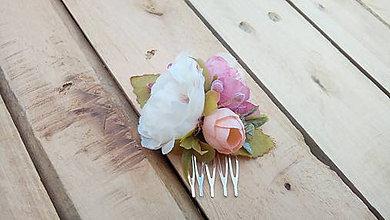 Ozdoby do vlasov - Minihrebienok ružový - 9566523_