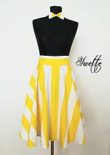 Sukne - YWETTE: žlté prúžky - moja letná sukňa - 9564471_
