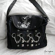 Veľké tašky - Taška cez rameno pre metalistov a rockerov - 9567477_
