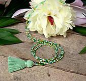 - Zľava 5,90, na 3,90€ Tropica náhrdelník-zelený strapček - 9565878_