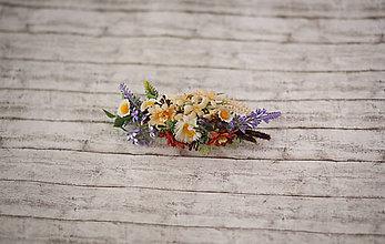 Ozdoby do vlasov - Svadobný polvenček z lúčnych kvetov - 9563793_