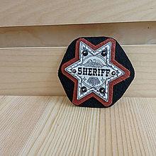 Doplnky - Šerifský odznak, hnedý - 9567042_