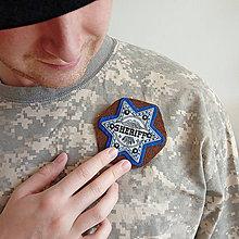 Šperky - Šerifský odznak, modrý - 9567116_