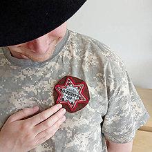 Šperky - Šerifský odznak, červený - 9567152_