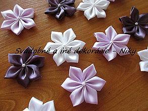 Materiál ručne robený - Kvety na výzdobu MALÉ (Fialová) - 9566593_