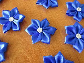 Materiál ručne robený - Kvety na výzdobu MALÉ (Modrá kráľovská) - 9566620_
