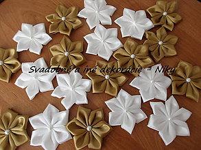 Materiál ručne robený - Kvety na výzdobu MALÉ (Zlatá) - 9566649_