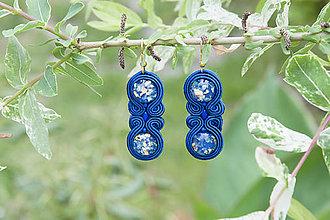 Náušnice - Modré leto - soutache náušnice - 9564178  972e363c075