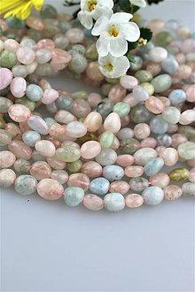 Minerály - morganit korálky - ováliky 5-10mm, cena za 10ks! - 9564706_