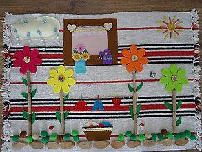 Úžitkový textil - Senzorický koberec V ZÁHRADKE - 9564966_